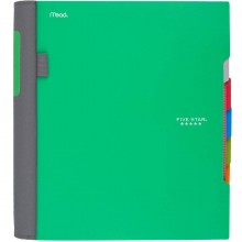Five Star Advance Spiral Notebook, 5 Subject, College Ruled Paper, 200 Sheets, 11