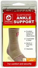 Fitzroy Elasticated Ankle Support, L, 25.4 - 30.5cm