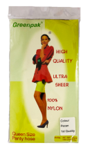 Greenpak High Quality Ultra Sheer 100% Nylon Panty Hose, Queen Size