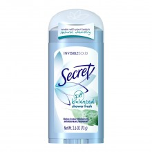 Secret Original Anti-Perspirant/Deodorant, Invisible Solid, Shower Fresh, 2.6-Ounces