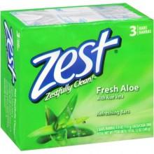 Zest Fresh Aloe Bar  Soap 3's