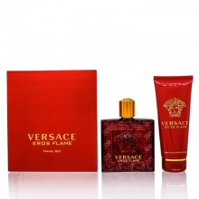 Versace Eros Flame Travel Set 100ml Edp + 100ml Shower Gel For Men
