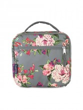 JanSport - Lunch Break Lunch Bag (Grey Bouquet Print)