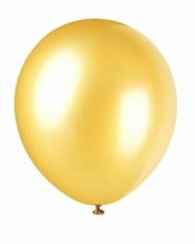 12 Inch Gold Pearlized Latex Balloons 72 Ct