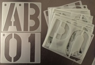 150mm High Stencil Alphabet Lettering Stencil A TO Z, Numbers 0 To 9 20 Pcs Set