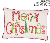 Santini Christmas Cushion Merry Christmas R/G