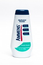Ammens Medicated Powder, Fresh Scent, 250g