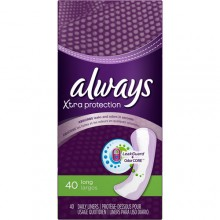 Always Xtra Protection Long Daily Liners Unscented 40 Count