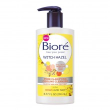 Biore free your pores witch hazel pore clarifying cooling cleanser