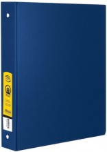 Bazic Products 4114-12 1 in. Blue 3-Ring Binder with 2-Pockets