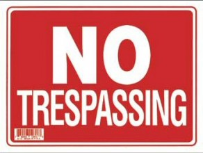 Sign - No Tresspass