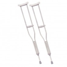 Lumex 3611LF-8 Universal Aluminum Crutches, Tall, Latex-Free, Color Aluminum