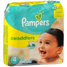 Pampers Swaddlers Diapers, Size 4 - 22 - 37 Lb, Jumbo Pack, 23 Count. Size 4 - 22 - 37 lb