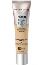 Dream Urban Cover Flawless Coverage Foundation Makeup, SPF 50 Soft Tan