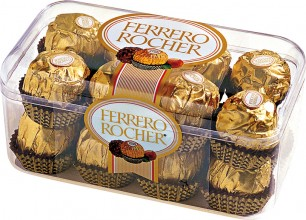 Ferrero Rocher: Fine Hazelnut Chocolates, 7 oz.