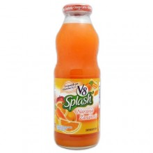 V8 Splash Juice Beverage, Orange Carrot, 16 fl oz bottle