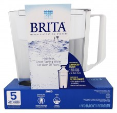 Brita Water Filtration System Pitcher, Soho, 5 Cups