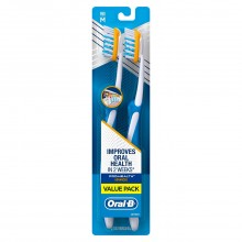 Oral-B Pro Health Advanced Twin Pack Toothbrush, Medium
