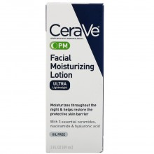 CeraVe PM Facial Moisturizing Lotion, 3oz