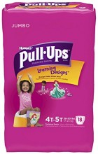 Huggies Pull-Ups Girl's Training Pants, 18 Count