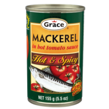 Grace Mackerel In Hot Tomato Sauce, Hot and Spicy, 5.5 oz