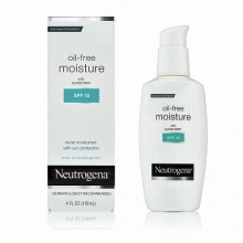Neutrogena Oil Free Moisture, SPF 15 4 oz (120 ml)