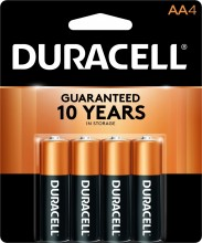 Duracell Coppertop AAA Battery, 4 Count Per Pack