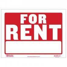 Sign - For Rent 9x12