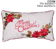Santini Christmas Cushion Merry Christmas Poins.
