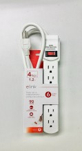 elink Power Bar With Surge Protection, 6 Outlets