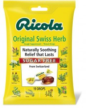Ricola Sugar Free Original Swiss Herb Cough Drops, 19 Drops