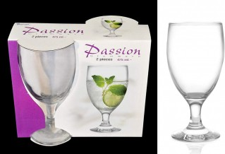 Epure Collection Glass Drinkware Set (Passion Water (16 oz) - 2 pc.)