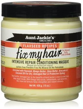 Aunt Jackies Fix My Hair Intensive Repair Conditioning Masque, 15 Ounce
