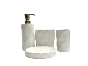 Bathroom tumbler white 4pc