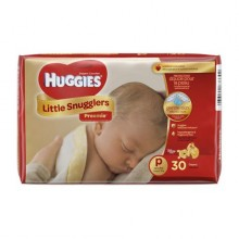 Huggies Little Snugglers Size Preemie Baby Disposable Diapers - 30 Count