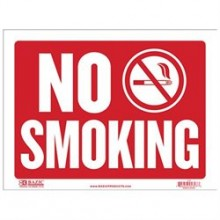 Sign - 9x12 No Smoking Plastic