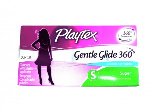Playtex Gentle Glide 360, Unscented Tampons, Super Absorbency, 8's
