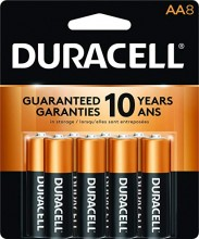 Duracell Coppertop AA8, 8 Count