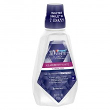 Crest 3D White Luxe Glamorous White Multi-Care Whitening Mouthwash - Fresh Mint 473 ml