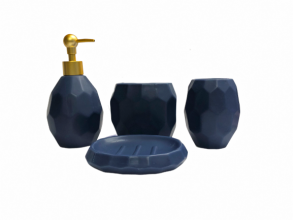 Bathroom Tumbler Navy Blue 4pc