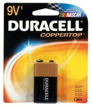 Duracell Alkaline Battery 9 V Card 1 (9361)