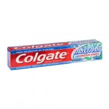 Colgate MaxFresh Whitening Fluoride Toothpaste with Mini Breath Strips Clean Mint, 6oz