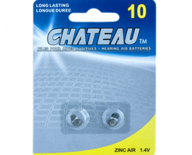 Chateau Long Lasting Hearing Aid Batteries,  A10