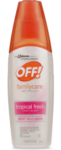 OFF!® FamilyCare Insect Repellent III Tropical Fresh 6 fluid oz