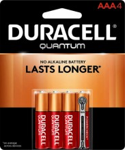 Duracell Alkaline Battery AAA Carded 4 Pack