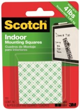 Scotch 3M Indoor Mounting Squares, 1 Inch