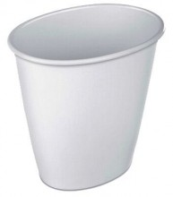 Sterilite 10118012 1-1/2 Gallon White Wastebasket