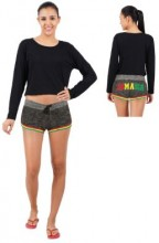 Ladies Heather Fleece Shorts