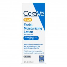 CeraVe AM Facial Moisturizing Lotion SPF 30 Oil-Free Face Moisturizer with Sunscreen 3oz