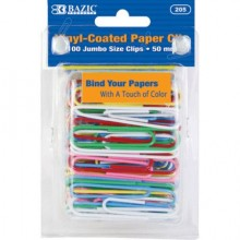 Paper Clip Colored Jumbo 100pk